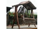 Деревянный каркас КАРАВЕЛЛА, с крышей, для качелей СЕАРА