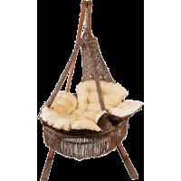 Подвесное плетеное кресло CARTAGENA цвет серебристо черный