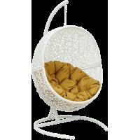 Подвесное кресло Lunar White с каркасом