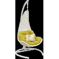 Подвесное кресло Wind White из искусственного ротанга